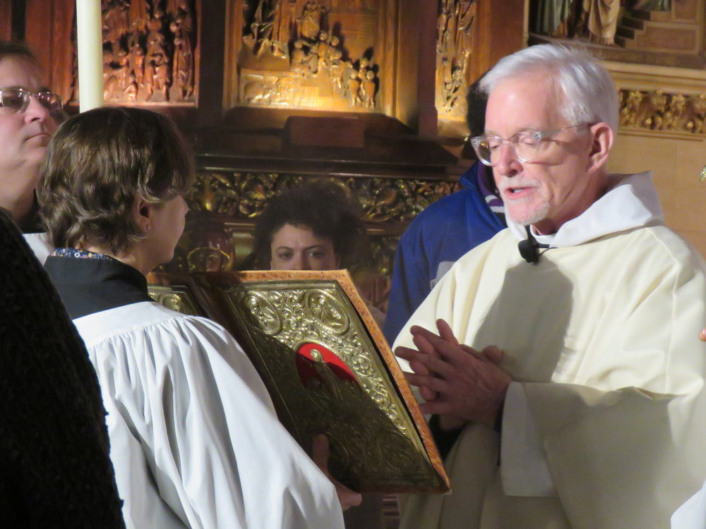 The gospeller was Father Jim Pace.  Photo by Br. Damien Joseph SSF