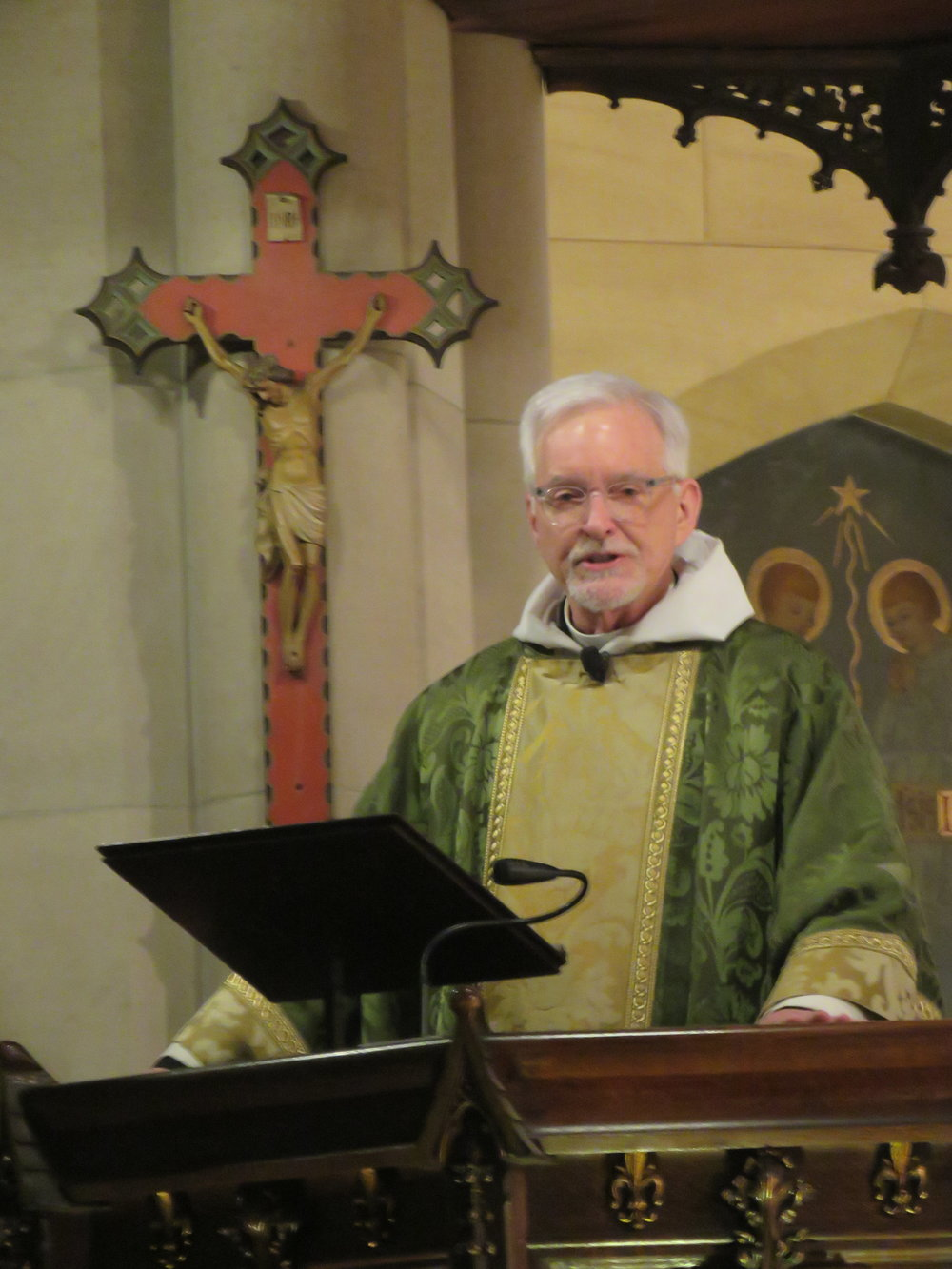 Father Jim Pace was celebrant and preacher for the Solemn Mass on January 20, 2019.  Photo by Br. Damien Joseph SSF