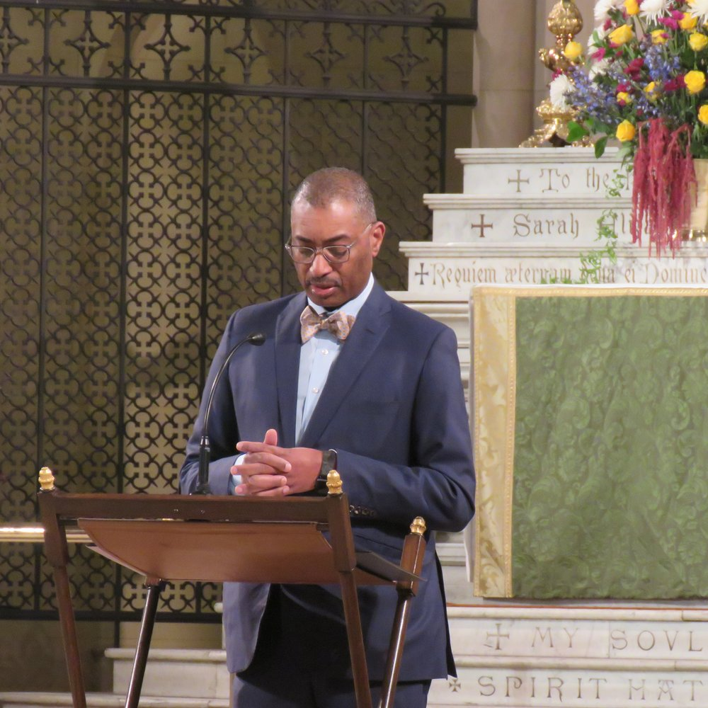 Dr. Charles Morgan was the reader.  Photo by Br. Damien Joseph SSF