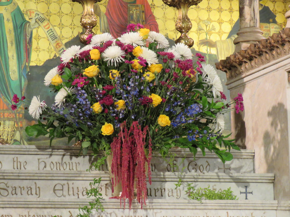 The flowers were given by Bishop Mark Sisk to the Glory of God and in thanksgiving for his wife, Karen Sisk, on the occasion of her birthday.  Photo by Br. Damien Joseph SSF