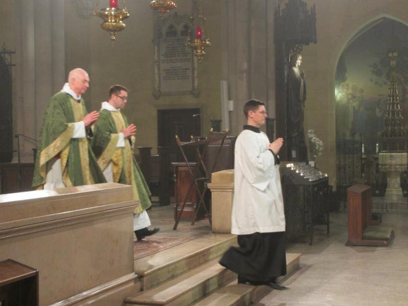The Retiring Procession: The Rector and Father Matt Jacobson were concelebrants.  Photo by MaryJane Boland