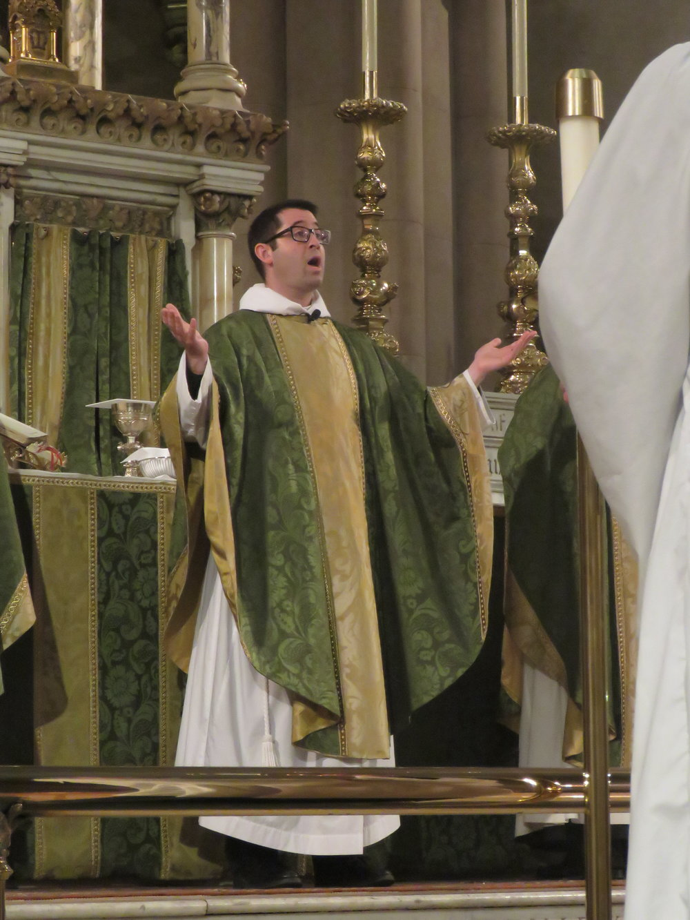 Father Matt Jacobson was celebrant and preacher for the Solemn Mass on Sunday, February 24, 2019.  Photo by Damien Joseph SSF