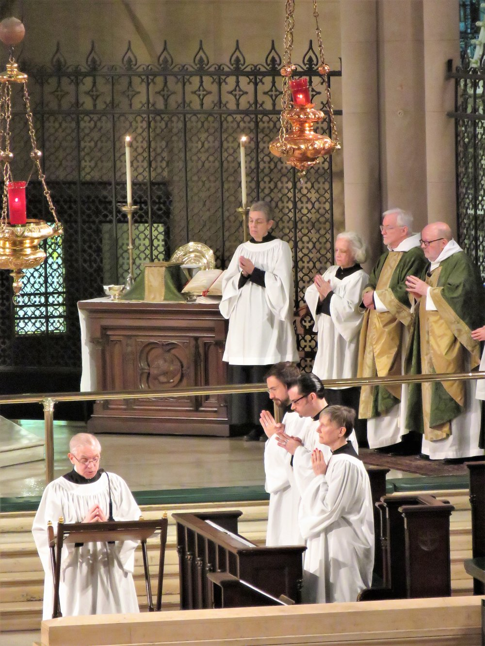 Solemn Mass on the Last Sunday after the Epiphany, March 3, 2019.  Photo by Damien Joseph SSF