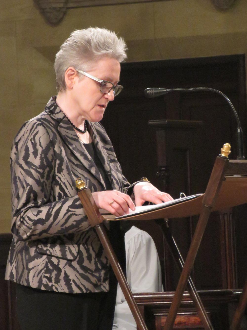 Marie Rosseels was lector.   Photo by Damien Joseph SSF