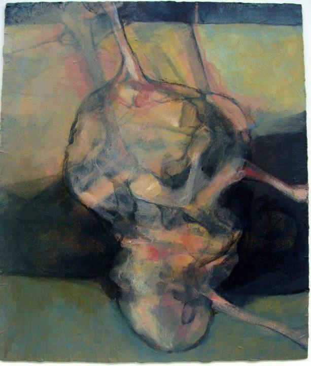 Klein hangend figuur- 2011 - acryl op paneel