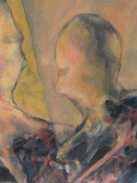 Kontakt 4 - detail - 2011 - acryl op paneel