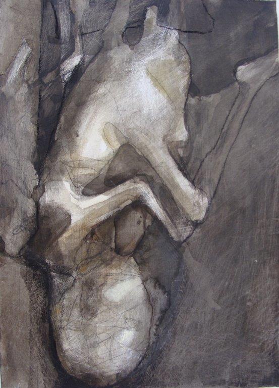 Foetus - gemengde techniek ) 2012