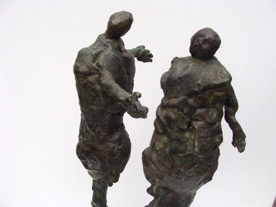 Kontakt - 2004 -detail - brons