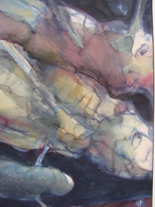 Ikaros 3 - aquarel - detail - 2011