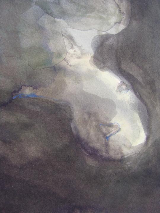Ikaros 4 - aquarel - detail -2011