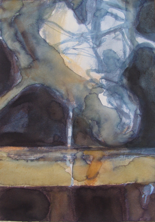 Ikaros 5  - aquarel - 2011