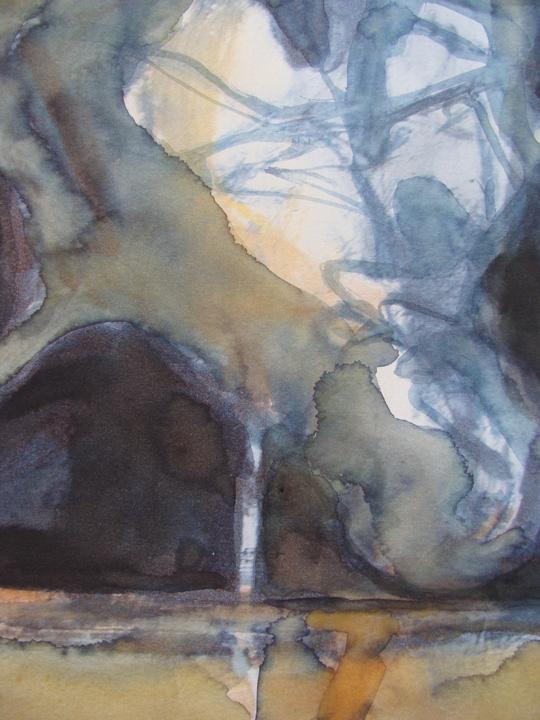 Ikaros 5 - detail - aquarel - 2011