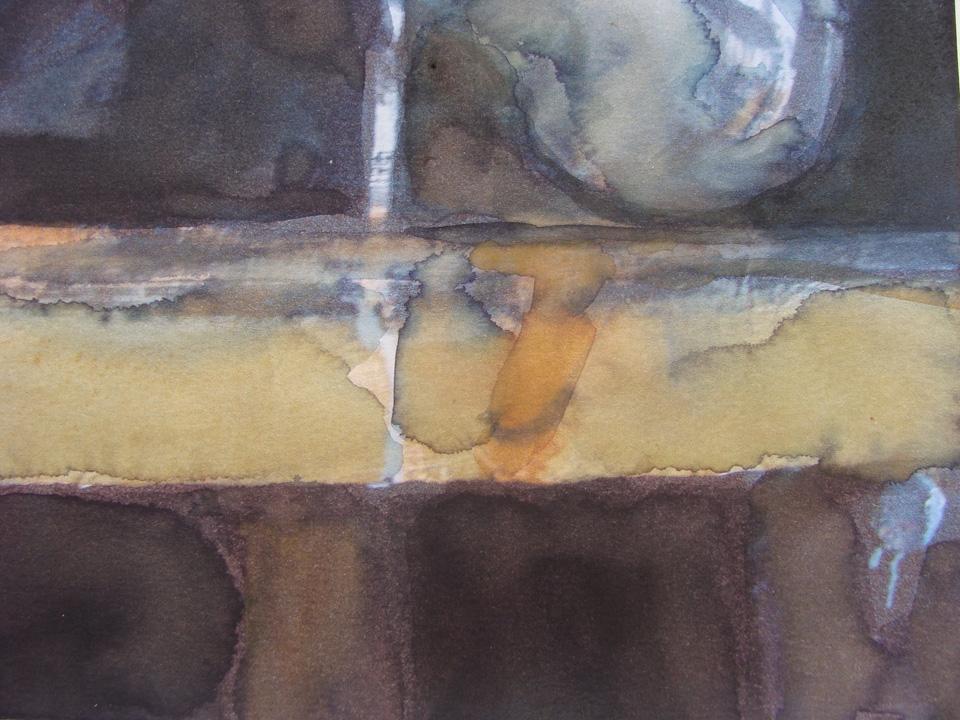 Ikaros 5 - aquarel  - detail - 2011