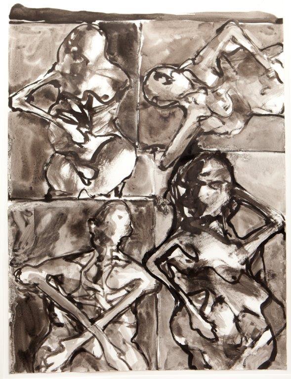 4 Figuren - lavis - 2010
