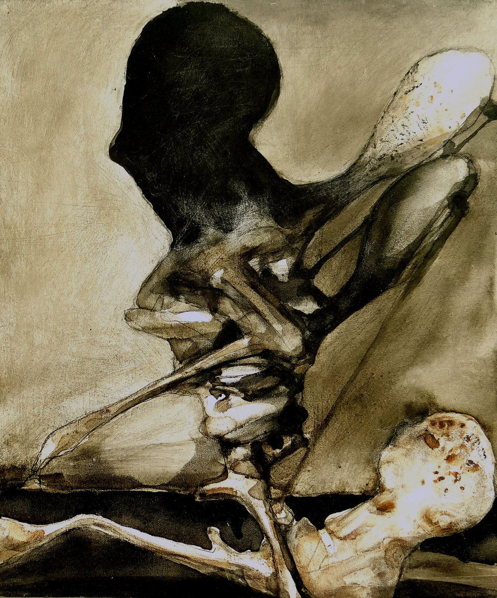 Angel of death -  2012  - gemengde techniek