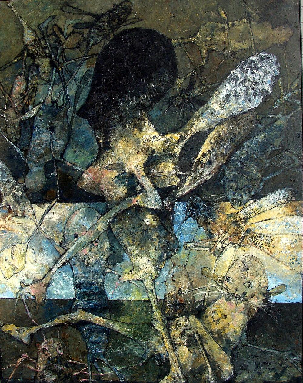 Angel of death- 2016 - acryl op paneel - 120x160 cm