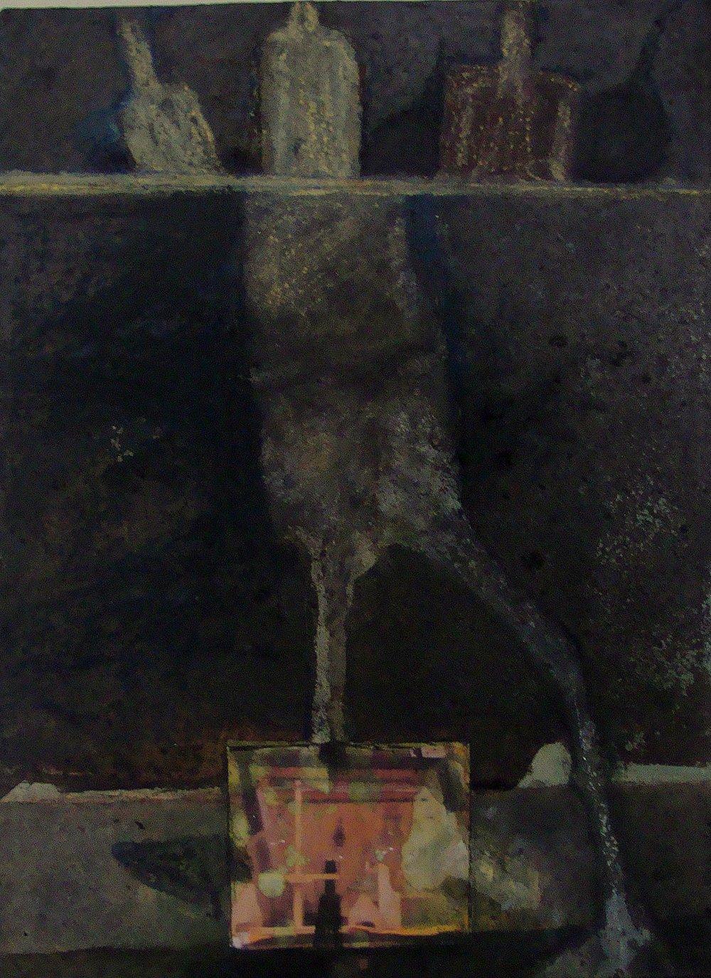 Staand figuur met stilleven -2016 - gemengde techniek