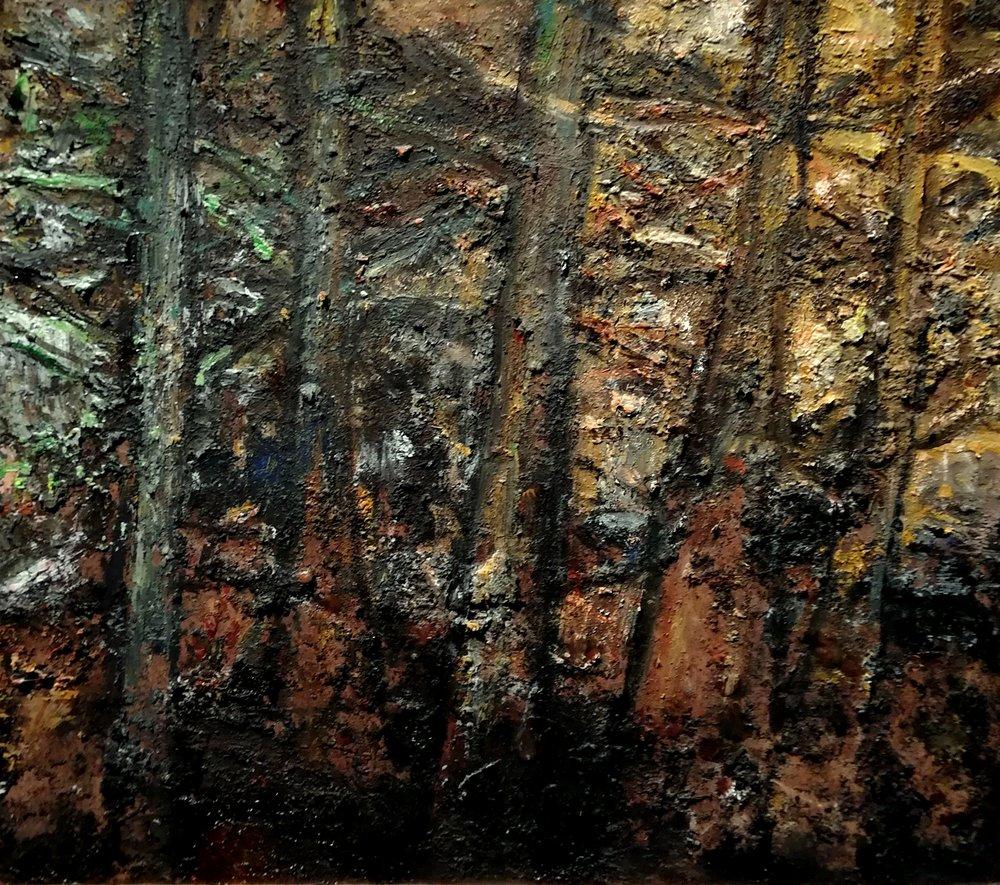 BOMEN -2018- acryl op paneel -41,5 x 37 cm