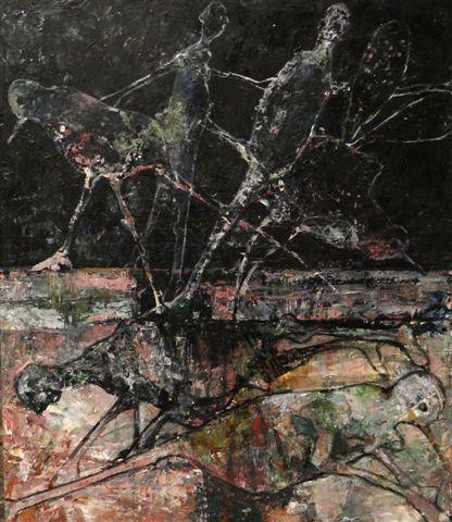 Metamorfosis 1-2018-acryl op paneel- 60x70 cm