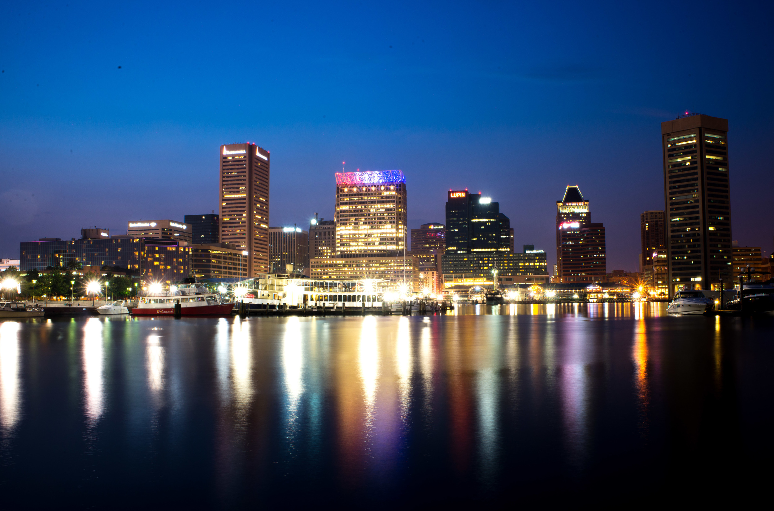Baltimore City Night Photography