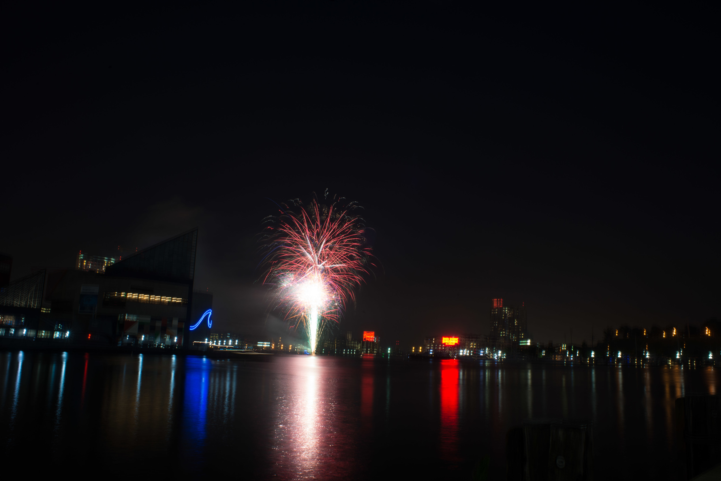 Baltimore City Fireworks Night Photography