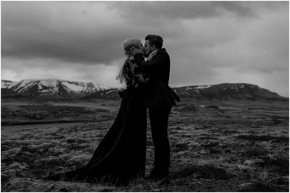 Hannah Leigh Photography Black Wedding Dress Iceland Elopement_2499.jpg