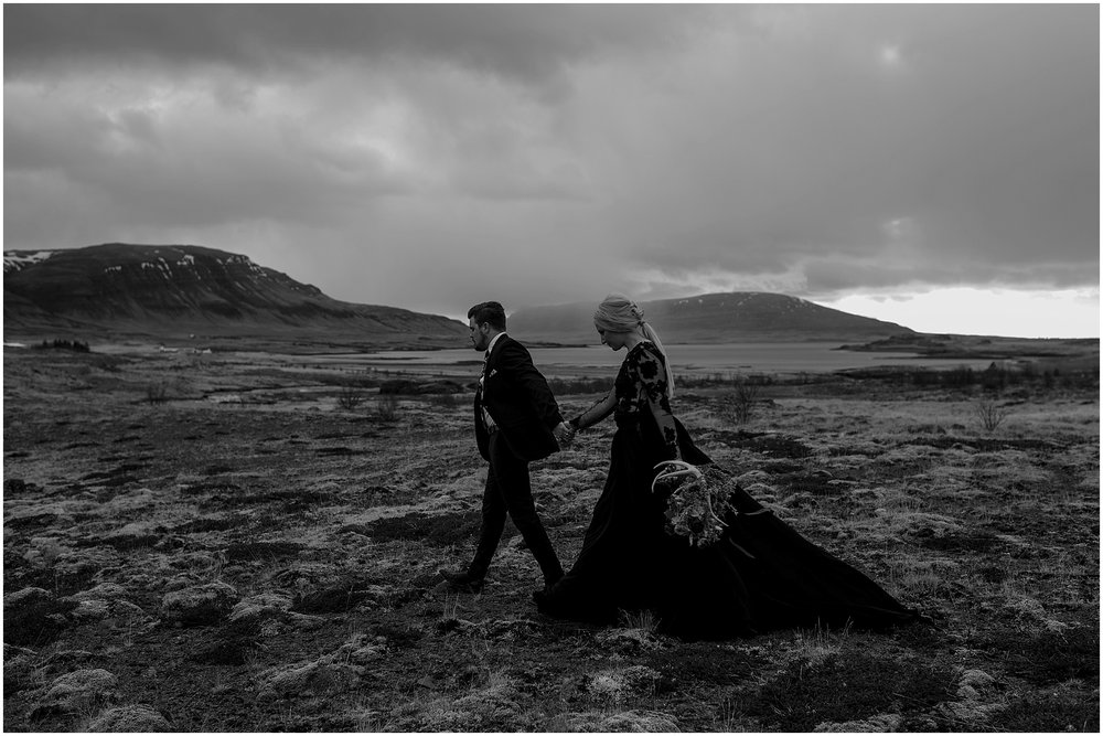 Hannah Leigh Photography Black Wedding Dress Iceland Elopement_2495.jpg