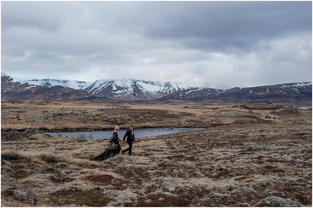 Hannah Leigh Photography Black Wedding Dress Iceland Elopement_2496.jpg