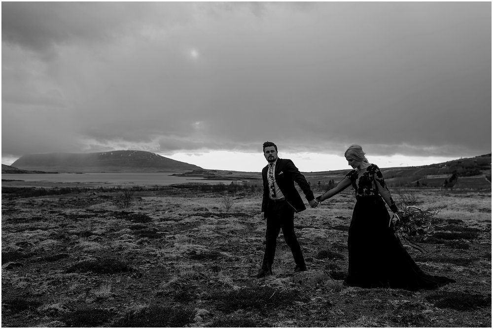 Hannah Leigh Photography Black Wedding Dress Iceland Elopement_2493.jpg