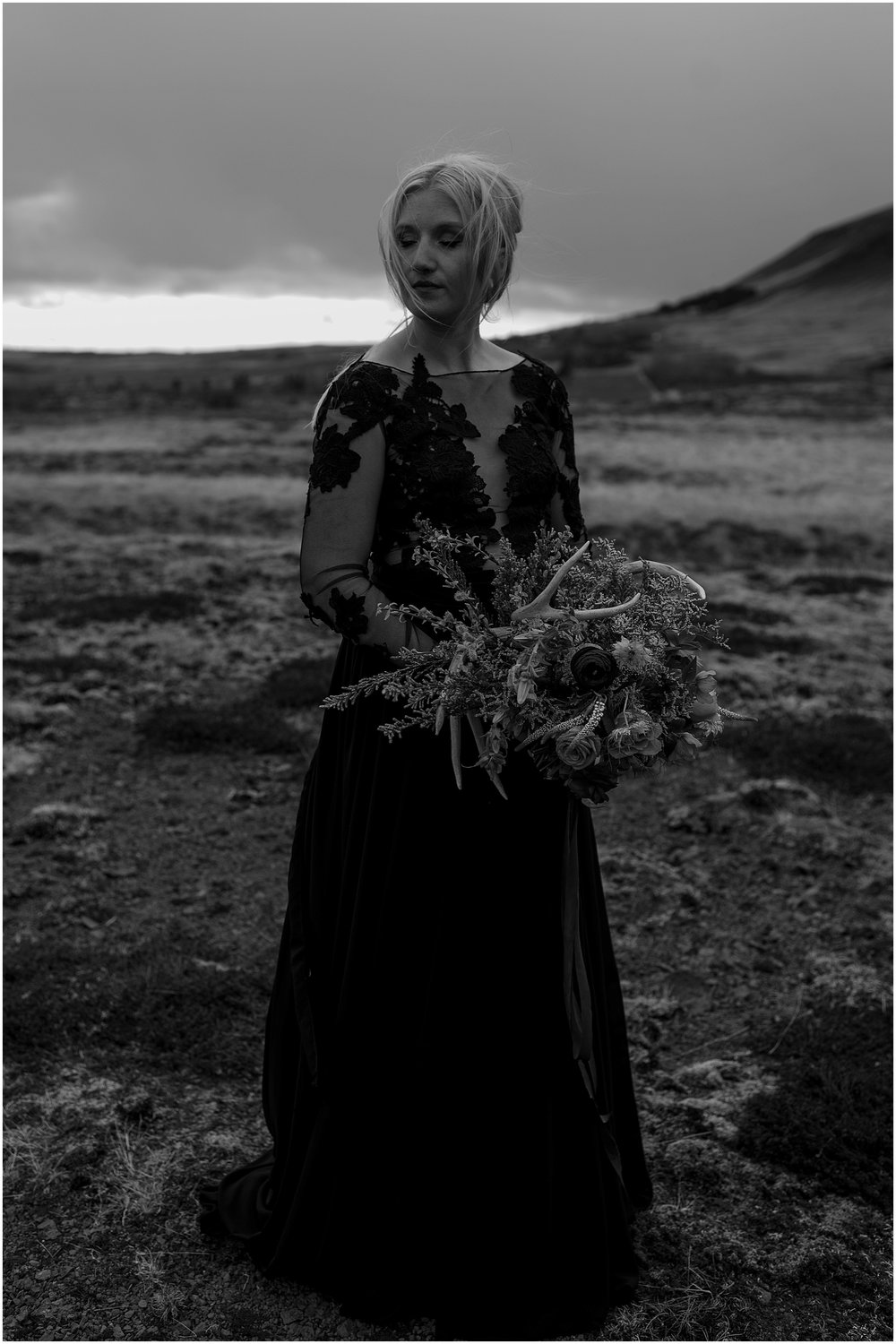 Hannah Leigh Photography Black Wedding Dress Iceland Elopement_2490.jpg