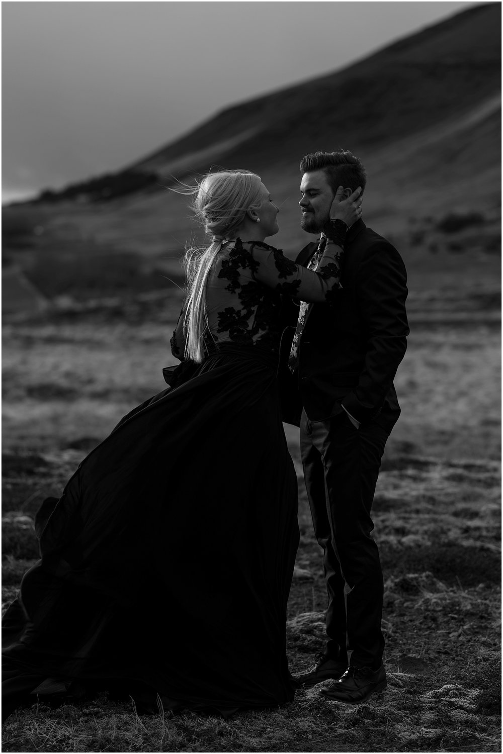 Hannah Leigh Photography Black Wedding Dress Iceland Elopement_2481.jpg