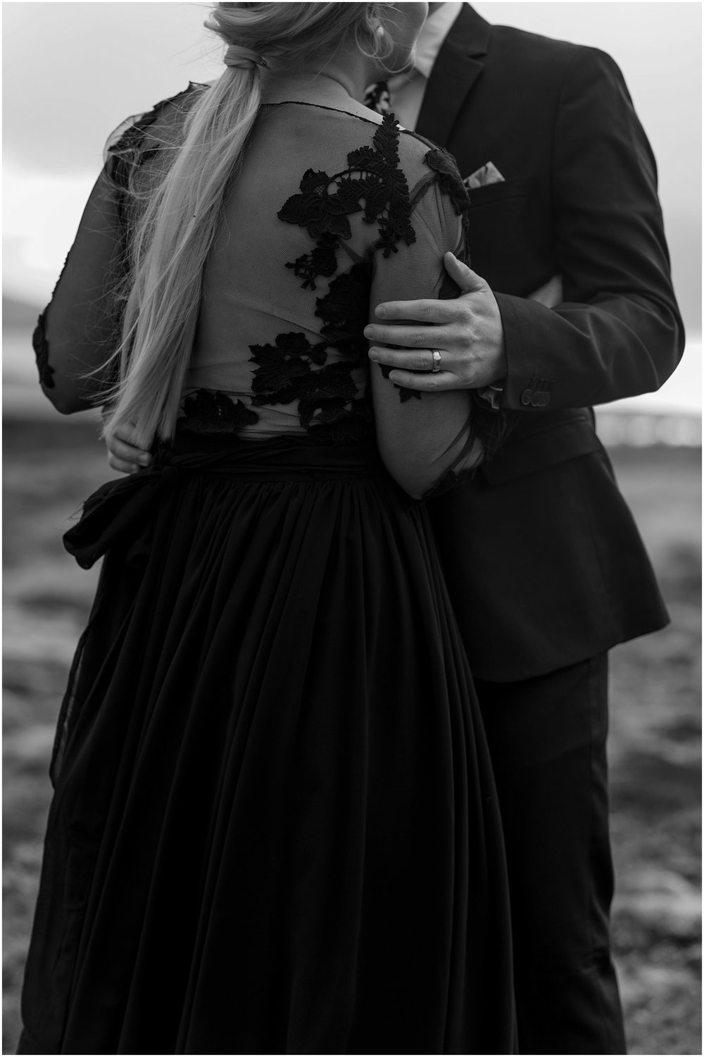 Hannah Leigh Photography Black Wedding Dress Iceland Elopement_2476.jpg