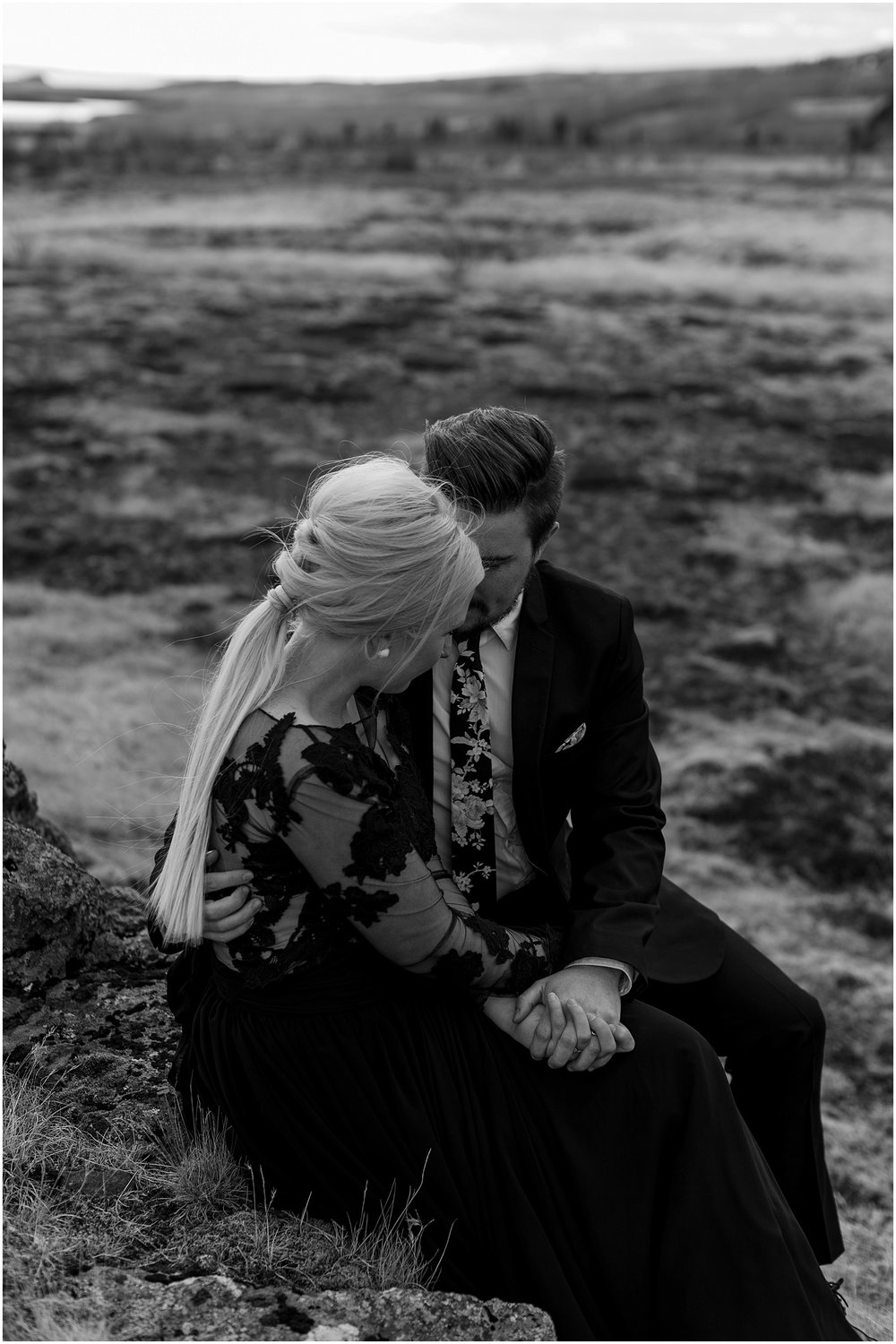 Hannah Leigh Photography Black Wedding Dress Iceland Elopement_2451.jpg