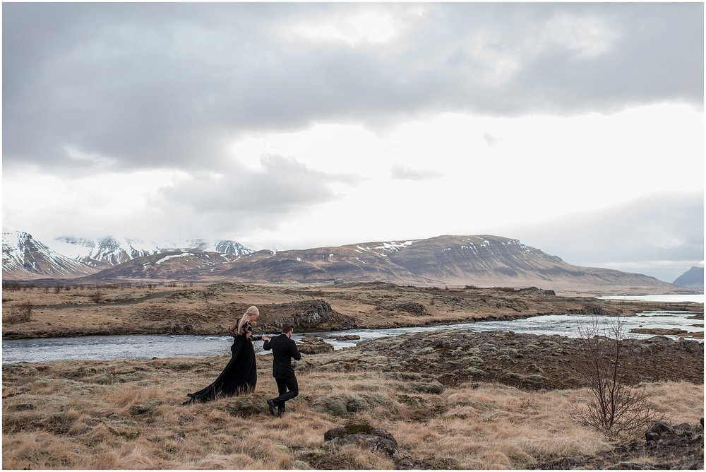 Hannah Leigh Photography Black Wedding Dress Iceland Elopement_2438.jpg