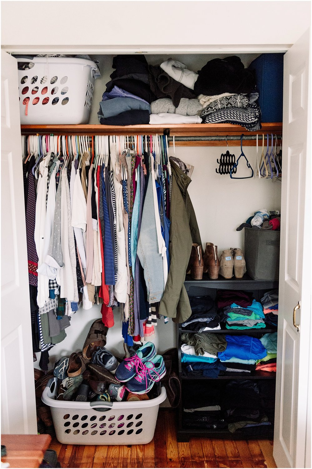 Between Prepping Our House For Move In Day And Packing Up All Our Stuff, I  Neglected To Really Go Through My Closet And Only Bring Things I Still Want.