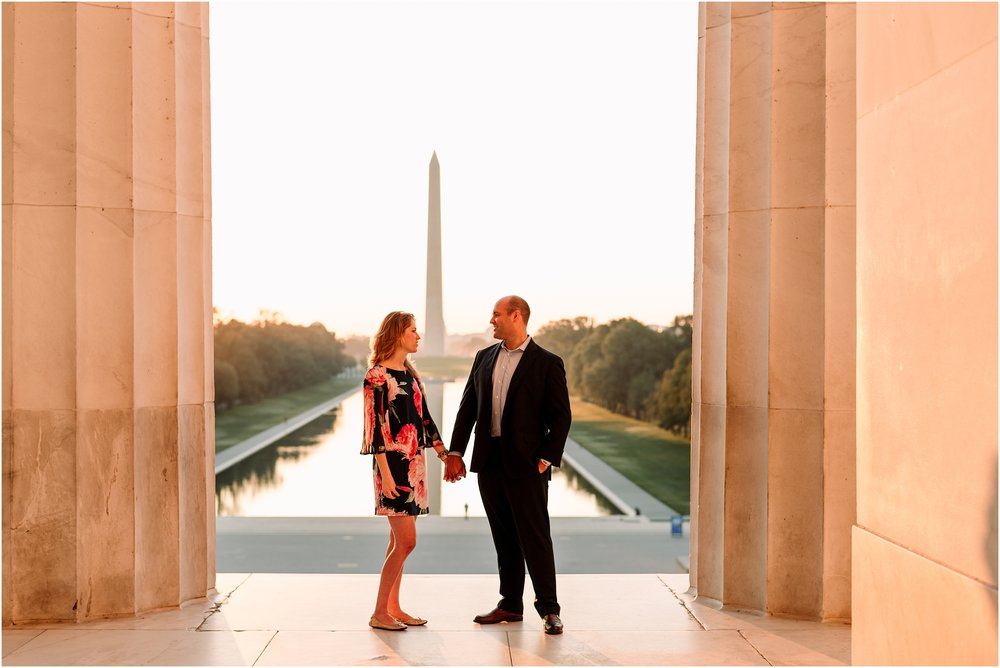 hannah leigh photography Sunrise Jefferson Memorial Engagement Session, Washington DC_1042.jpg