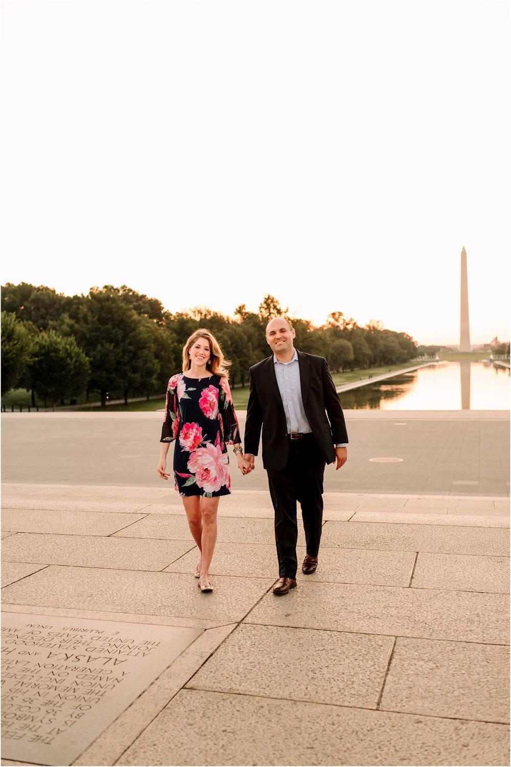 hannah leigh photography Sunrise Jefferson Memorial Engagement Session, Washington DC_1038.jpg