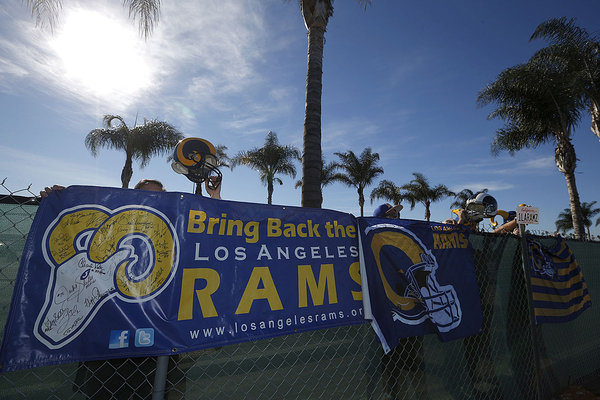on Jan 12, 2016 the NFL approved the relocation of the st. Louis rams to Los Angeles, California.