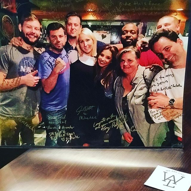 Our new studio is getting decked out but can't forget this bad ass poster of a photo from @stlfunnybone a few years back friends signed and had made for us. Hilarious group of people joining us in this picture. #stlouisonly #comedy #wearelive #saintlouis #instafunny #missouri #stlgram #stlfunnybone #comedycentral #mcscusemebitch #ludo #notsafeshow #youup #siriusxm #tv #netflix #stlcomedy #letsgoblues #goodtimes #wearelive