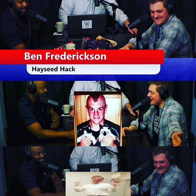 Had some fun with @benfredpd from @stltoday on the show. Which Benfred do you prefer? 1. Hayseed Hack 2. Kitten Menace 3. Mr's. Doubtfire #stltoday #missouri #sedalia #saintlouis #mohawk #writer #podcast #download #stream #funtimes #mizzou #hilarious #instapod #stlgram