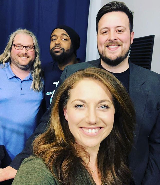 Selfie expert, reporter, and #STL native @alexiszotos stopped by today. We discussed her work and journey to @kmovnews4 , as well as her podcast @meetstlouispodcast - other notes of interest... she may be feuding with @chrisdavisksdk , she once had pink hair, and she can sing along with @savestheday #stl #stlouisonly #wearelive #stlgram #download #meetstlouis #instafunny #news #cbs #grandcenterstl #alexiszotos #kmov #missouri #blackandwhite #comedyvideo #livestream #downtownstl #humor #reporter #onthescene #ladue #cityofstlouis #popculture #podcasts #usc #southerncalifornia #journalism