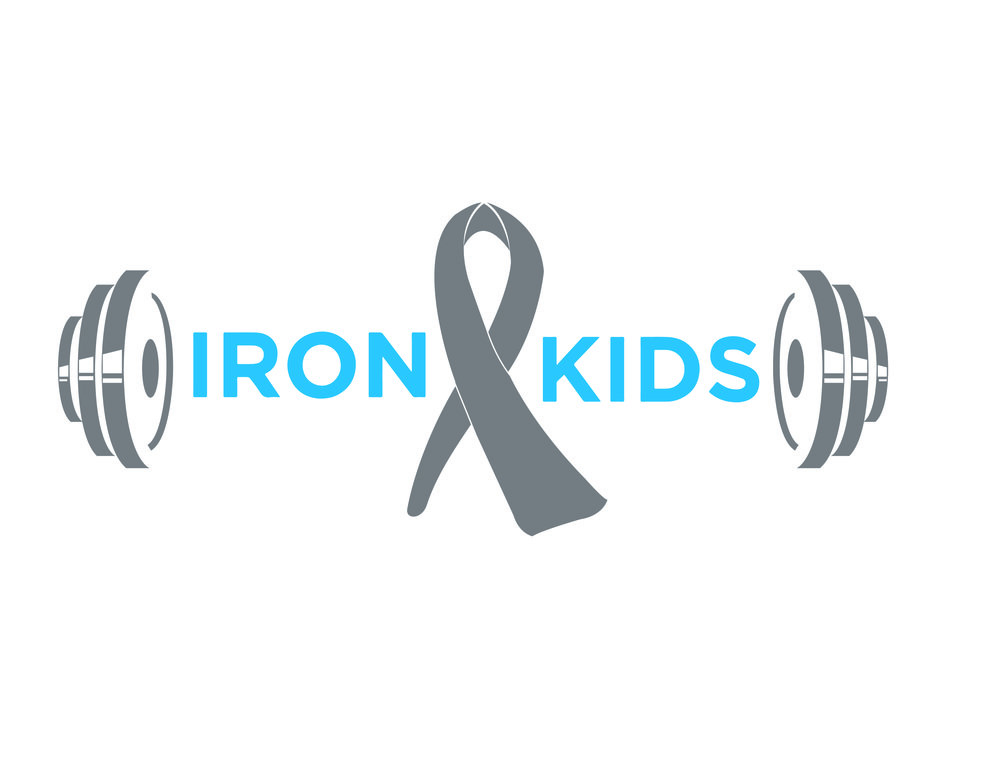 "Ironkids Logo    Logo for non-profit organization ""Ironmat"" which    raises Monet for children suffering from pediatric brain tumors.    Iron kids-   children suffering from brain tumors"