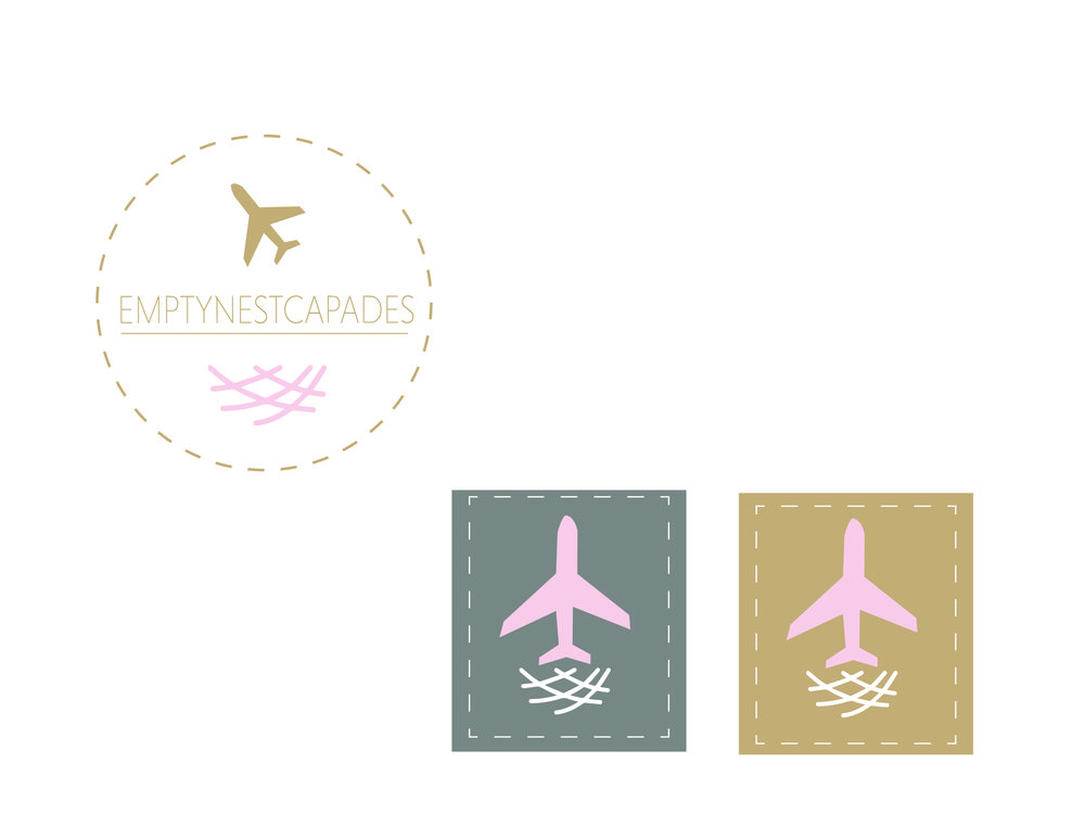 Travel Blog Logo - Emptynescapades - A Couple Traveling the world after the kids flew to coup.