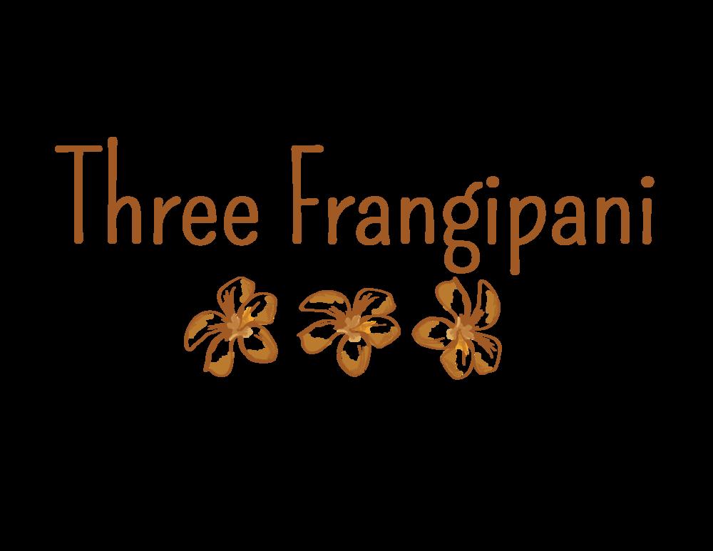 Three Frangipani - Boho Inspired Clothing Line Logo