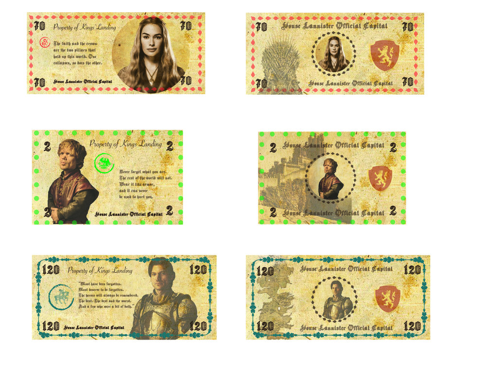 GOT Currency Project - Parsons School of Design   NY, NY