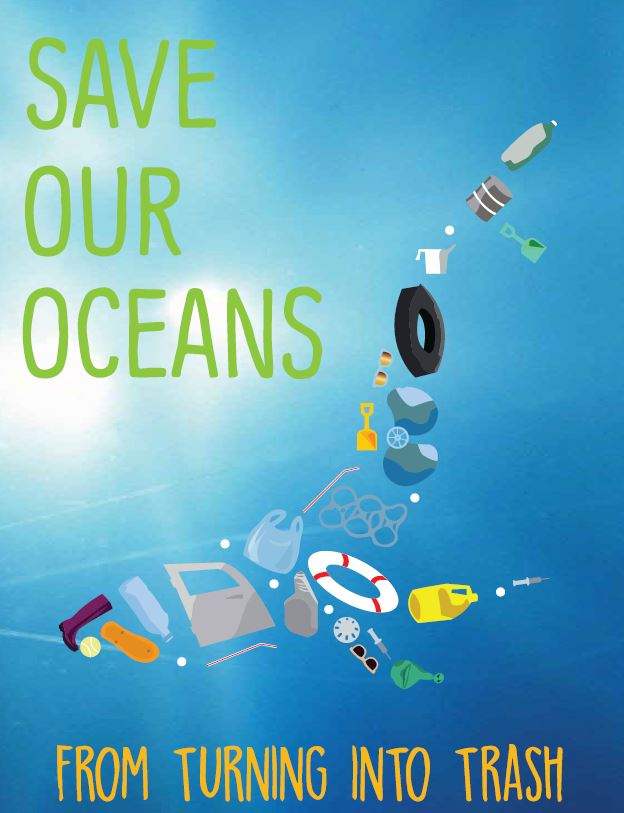 Save Our Oceans Poster - Parsons School of Design   NY, NY