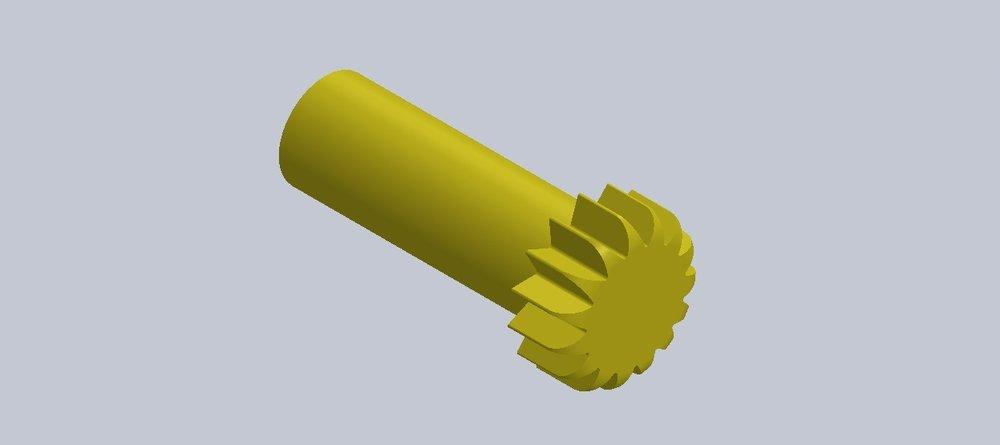 Cliquez sur l'image pour télécharger le fichier STL (13 dents)