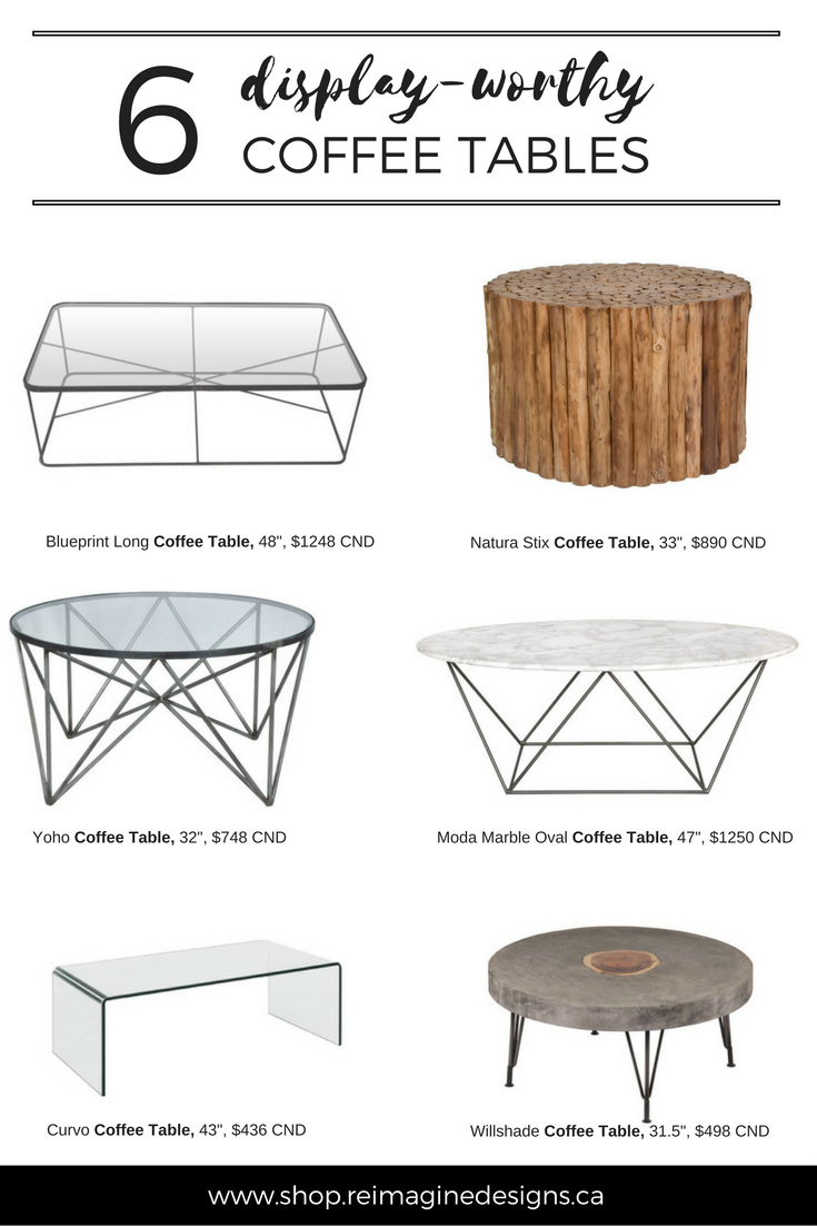 Reimagine Designs // 6 Display-worthy Coffee Tables