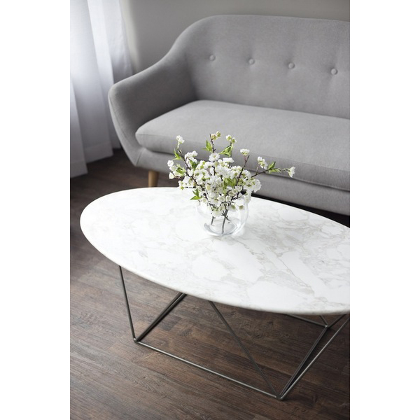 Moda Marble Oval Coffee Table