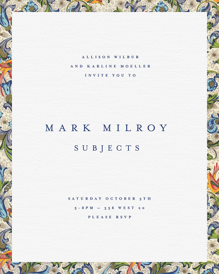Mark Milroy: Subjects